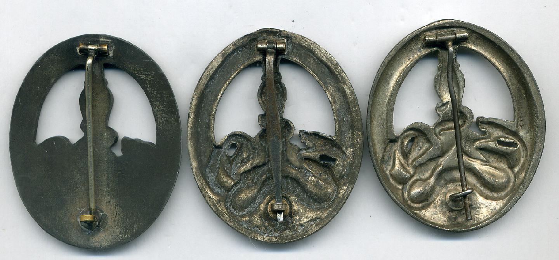 Three Anti-Partisan Badges.
