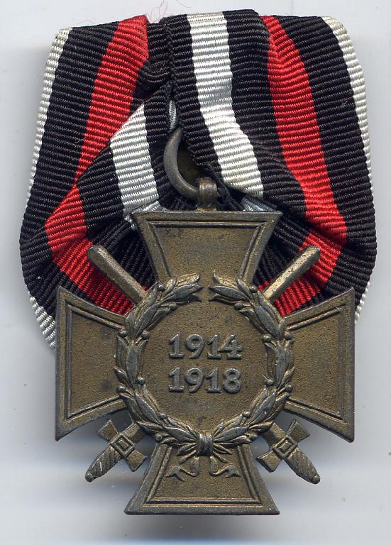 GERMAN CROSS OF HONOUR ARTICLE FOR COLLECTORS TO VIEW