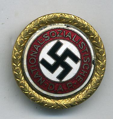 GOLDEN PARTY BADGES ARTICLE FOR COLLECTORS TO VIEW