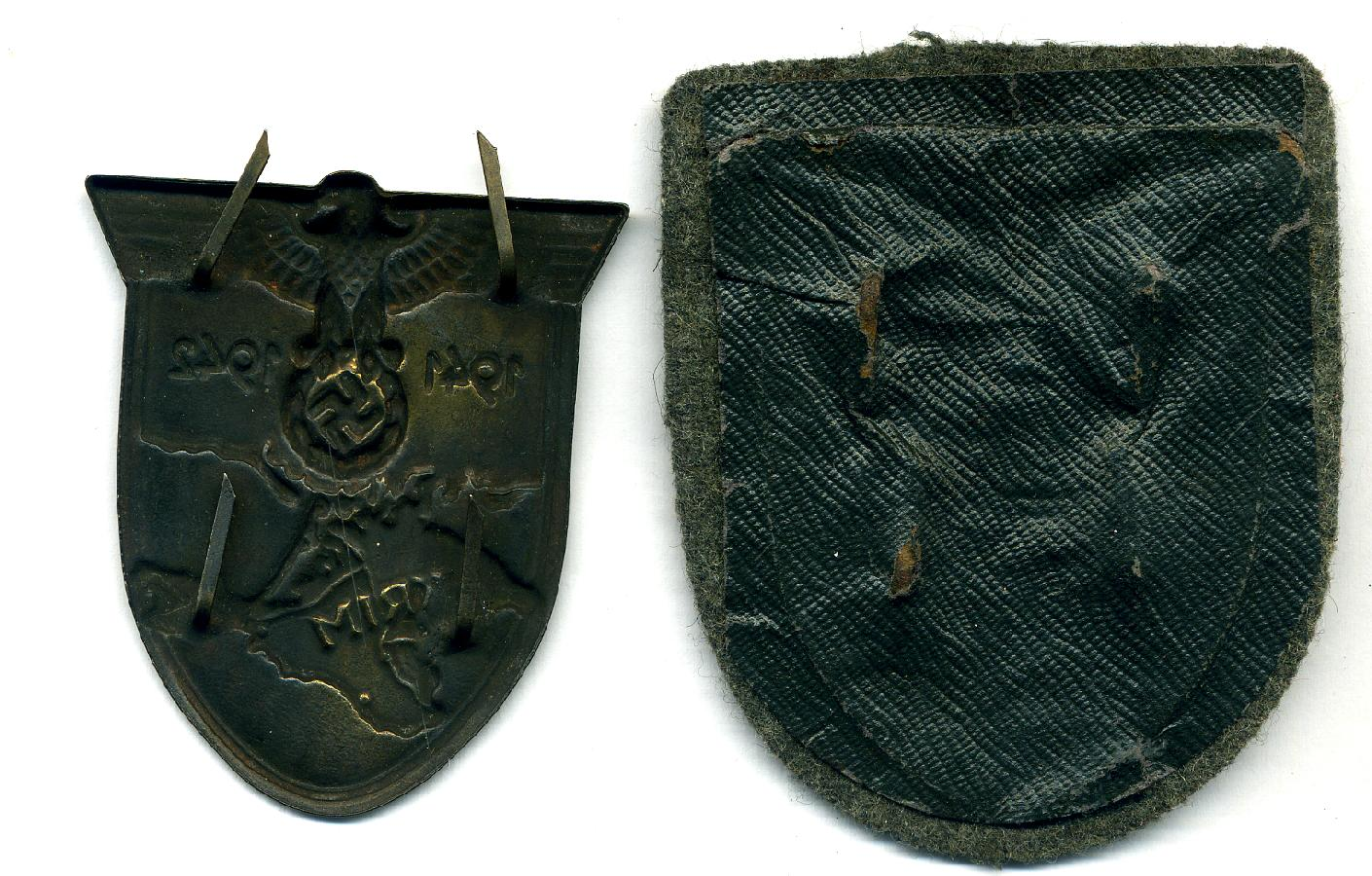 KRIM ARMSHIELDS REVERSE WITH AND WITHOUT BACKING CLOTH.