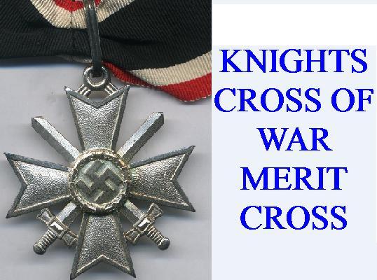 WAR MERIT KNIGHTS CROSS AWARDS