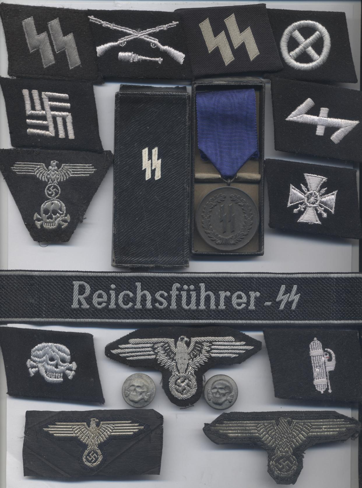 A SELECTION OF METAL ITEMS FOR COLLECTORS TO VIEW