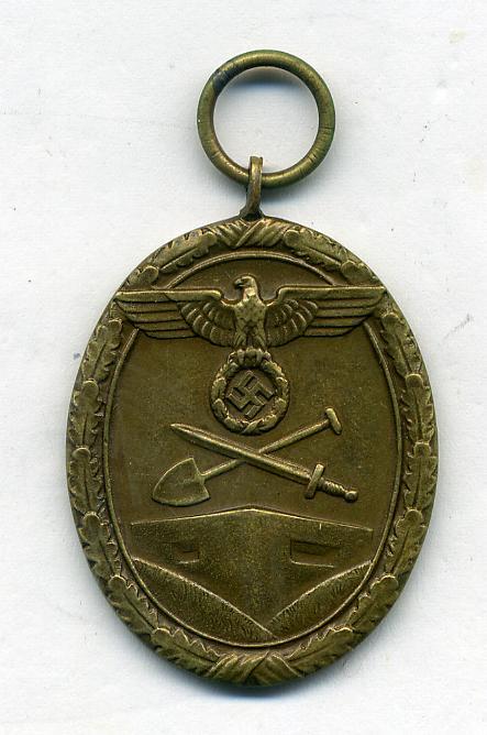 The West Wall Medal By Carl Poellath
