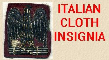 ITALIAN CLOTH INSIGNIA