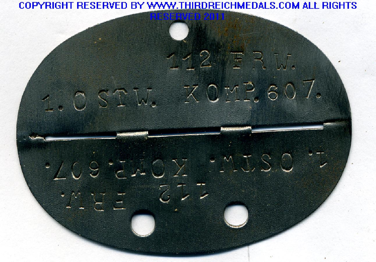 Wwii German Dog Tags For Sale