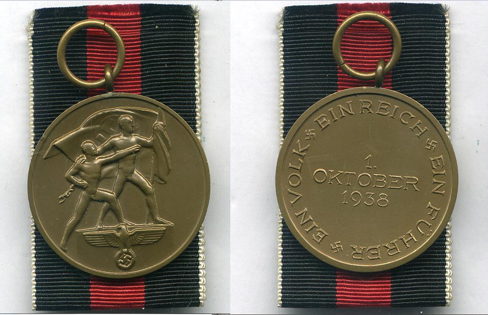 1st Oct 1938 Medal   at WWW.Thirdreichmedals.com