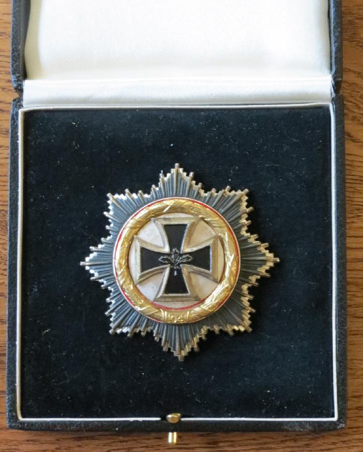 German Cross in Gold/Silver <BR> Case For Sale