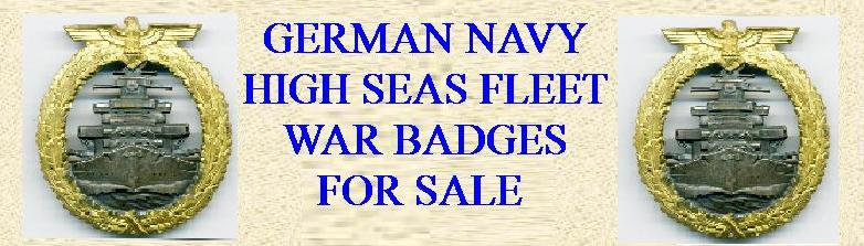 GERMAN THIRD REICH  HIGH SEAS FLEET BADGE FOR SALE