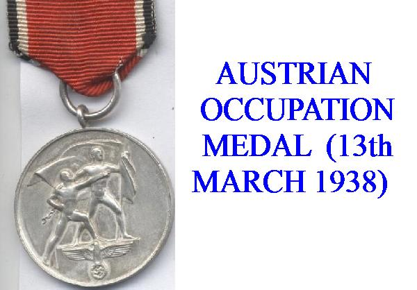 GERMAN OCCUPATION OF AUSTRIA AWARD