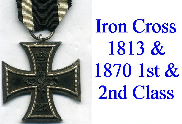 IRON CROSSES FROM 1813-1870