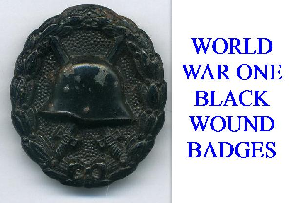 BLACK WOUND BADGE FOR WWI