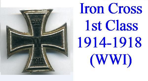 IRON CROSS 1914 1st CLASS