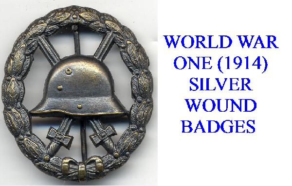SILVER WOUND BADGE FOR WWI