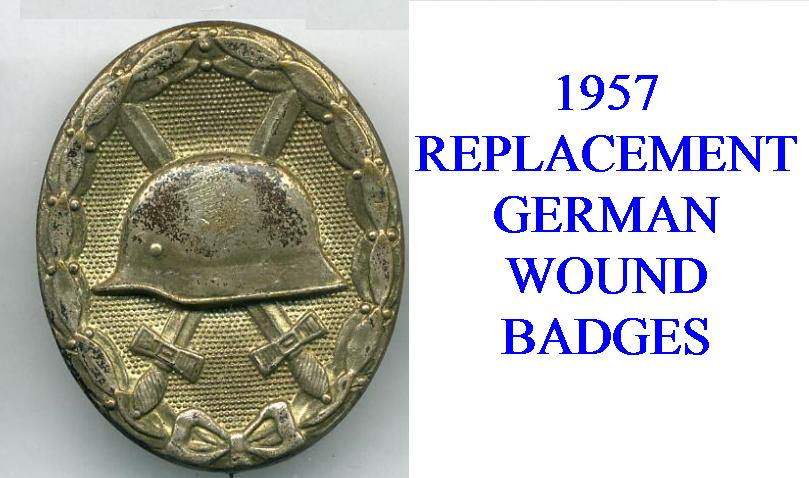 1957 WOUND BADGES