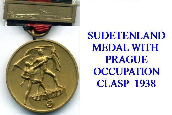 GERMAN OCCUPATION OF PRAGUE AWARD