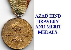 AZAD HIND MEDALS