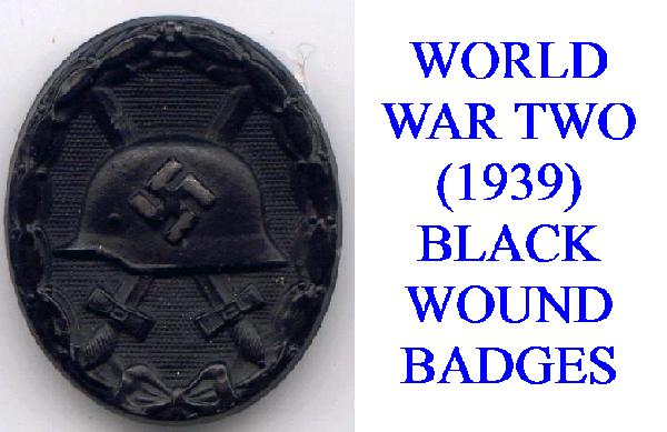 BLACK WWII (1939) WOUND BADGE