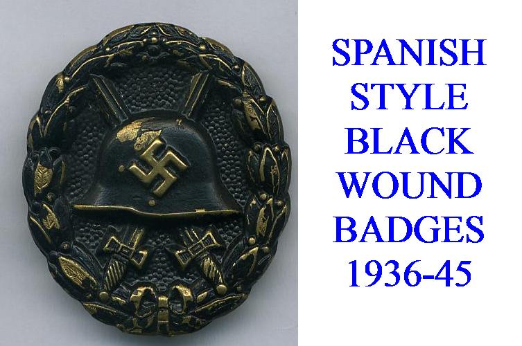 SPANISH BLACK WOUND BADGE
