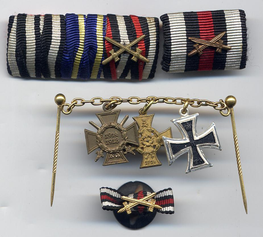 Cross of Honour Miniatures & Ribbons documeent