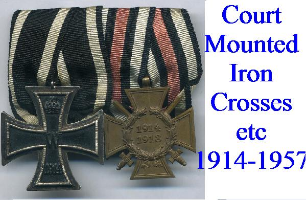 IRON CROSS ON COURT MOUNTS