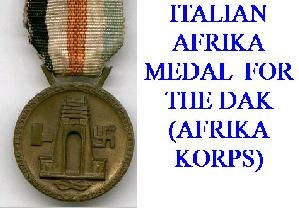 GERMAN DAK MEDALS AND AWARDS