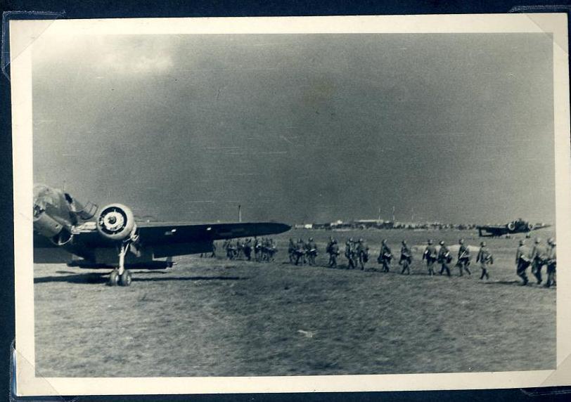 A plane in  Demjansk.