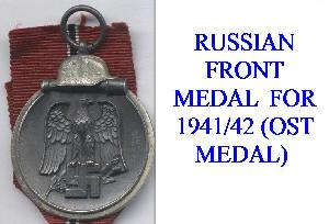 GERMAN RUSSIAN FRONT MEDALS