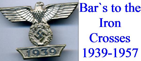 IRON CROSS BARS 1939-1957