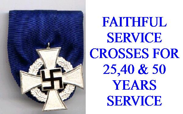 FAITHFUL SERVICE CROSSES & AWARDS