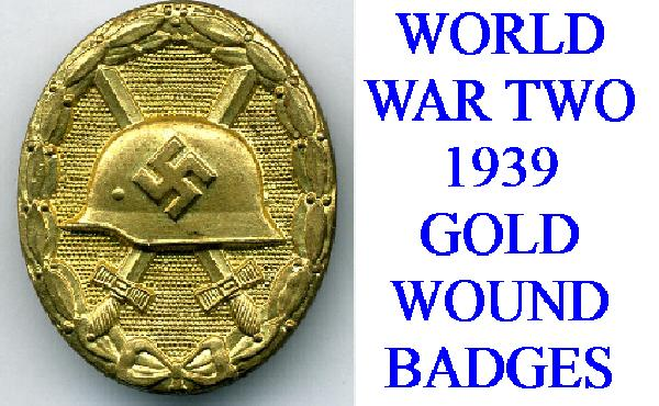 GOLD WWII (1939) WOUND BADGE