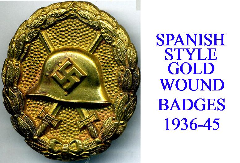 SPANISH GOLD WOUND BADGE
