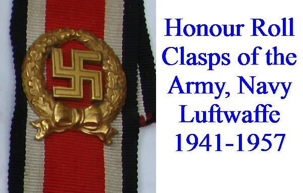 HONOUR ROLL CLASPS 1941-1957