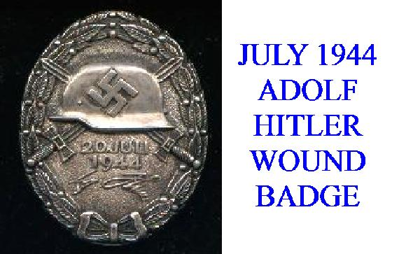 JULY 1944 ADOLF HITLER WOUND BADGE