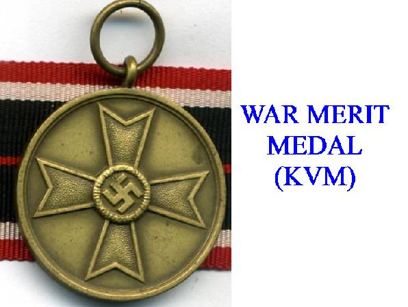 WAR MERIT MEDALS