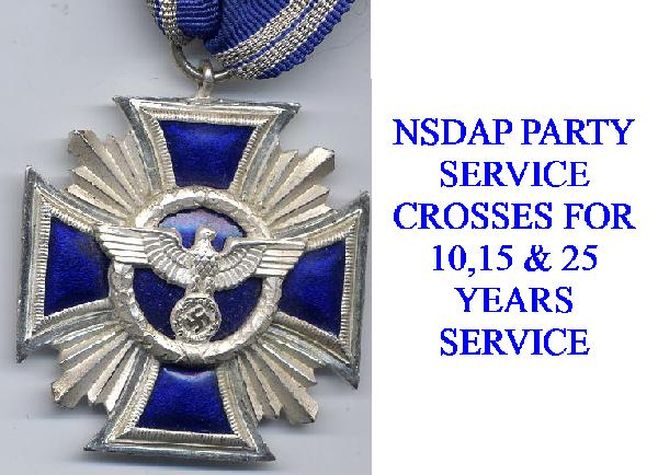 GERMAN NSDAP SERVICE CROSSES
