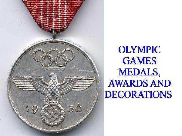 GERMAN OLYMPIC GAMES SERVICE AWARDS