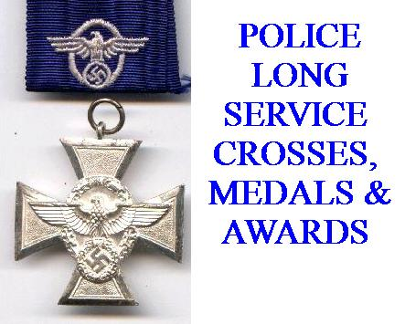 GERMAN POLICE SERVICE AWARDS