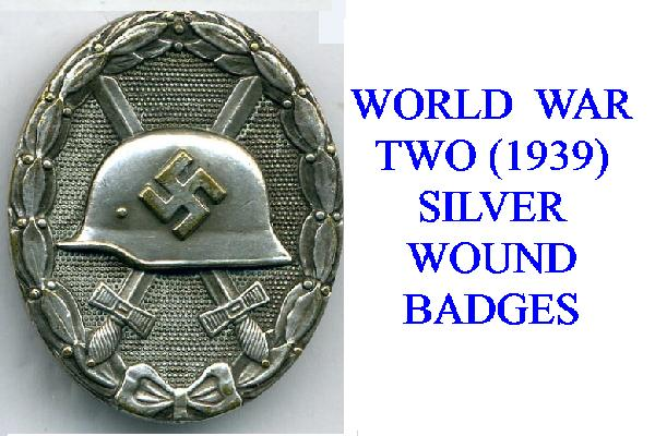 SILVER WWII (1939) WOUND BADGE