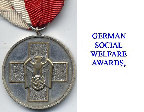 SOCIAL WELFARE AWARDS & MEDALS