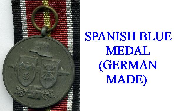 GERMAN SPANISH BLUE MEDALS