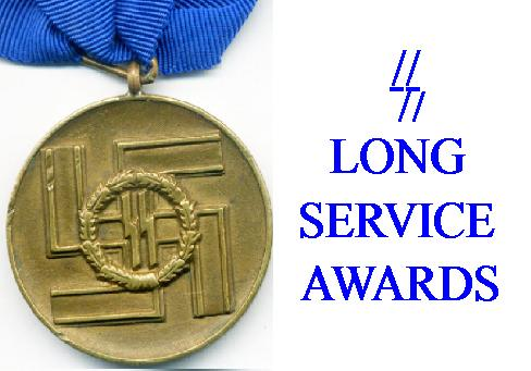 GERMAN SS LONG SERVICE AWARDS