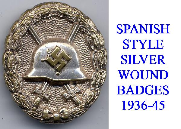 SPANISH SILVER WOUND BADGE