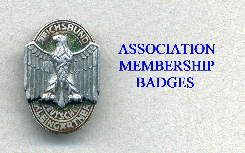 GERMAN ASSOCIATION MEMBERSHIP BADGES
