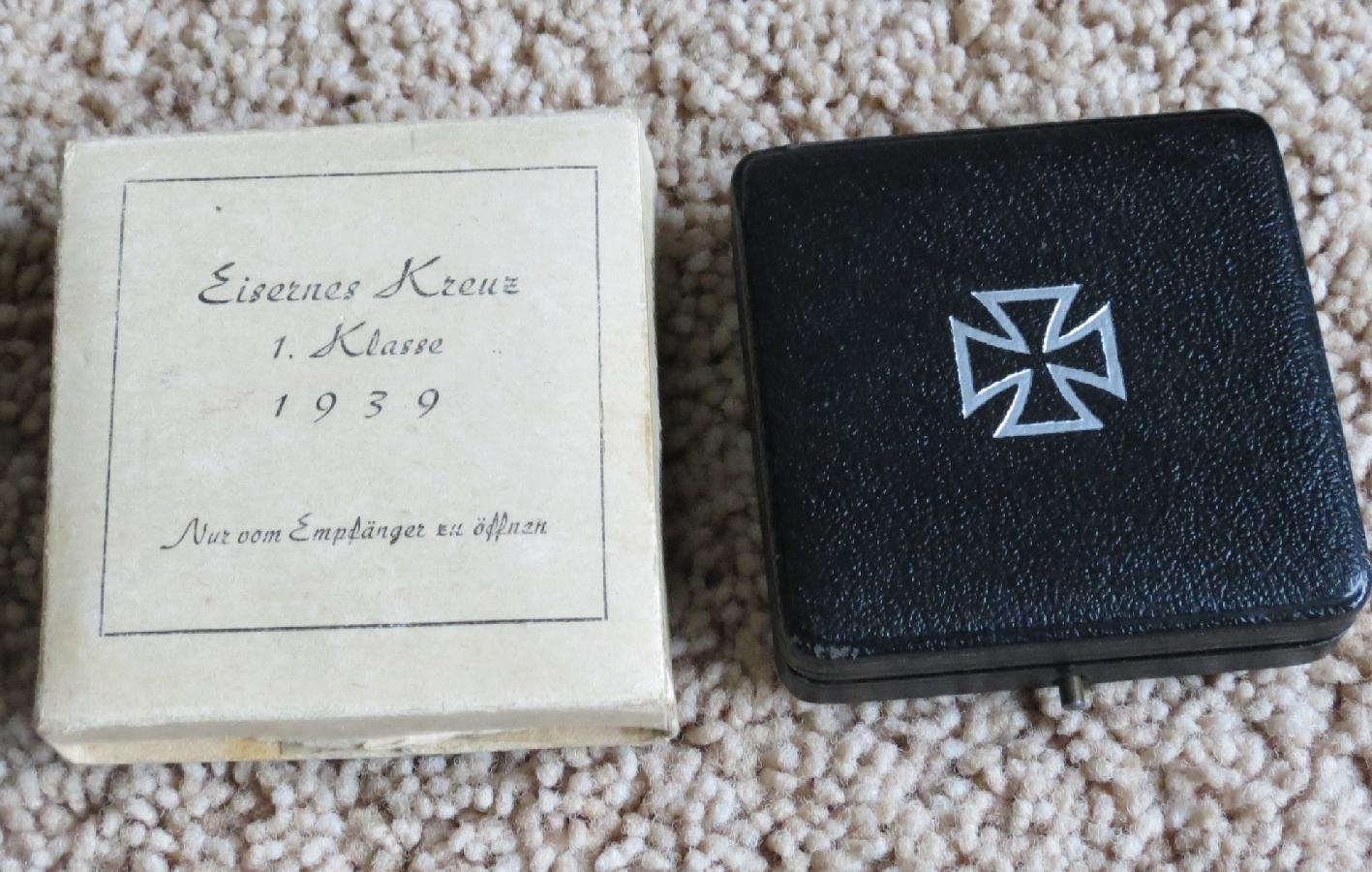 A Cased Iron Cross 1st Class with a Card Case Outer at WWW.Thirdreichmedals.com