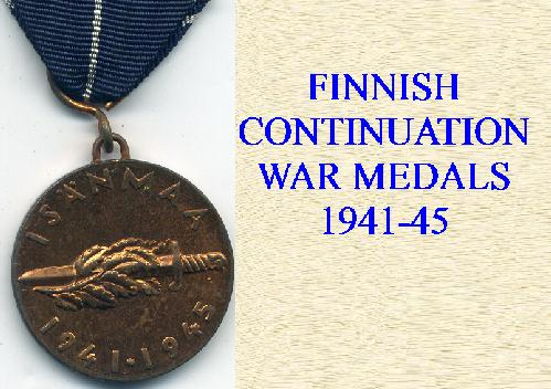 FINNISH CONTINUATION MEDALS 1941-45