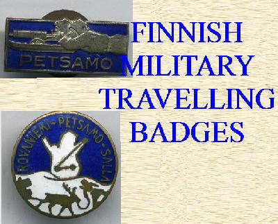 FINNISH MILITARY TRAVELING BADGES