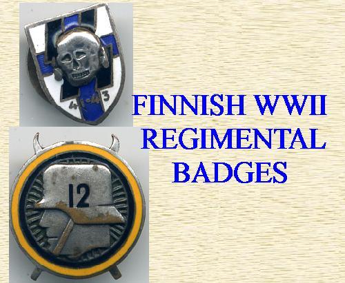 FINNISH REGIMENTAL BADGES