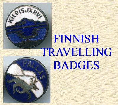 FINNISH TOWNSHIP TRAVELING BADGES