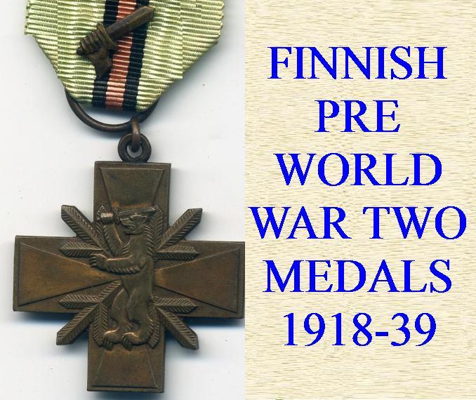 FINNISH PRE WORLD WAR TWO MEDALS 1918-39