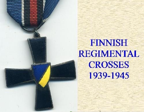 FINNISH COMEMORATIVE CROSSES FOR THE WINTER WAR ETC